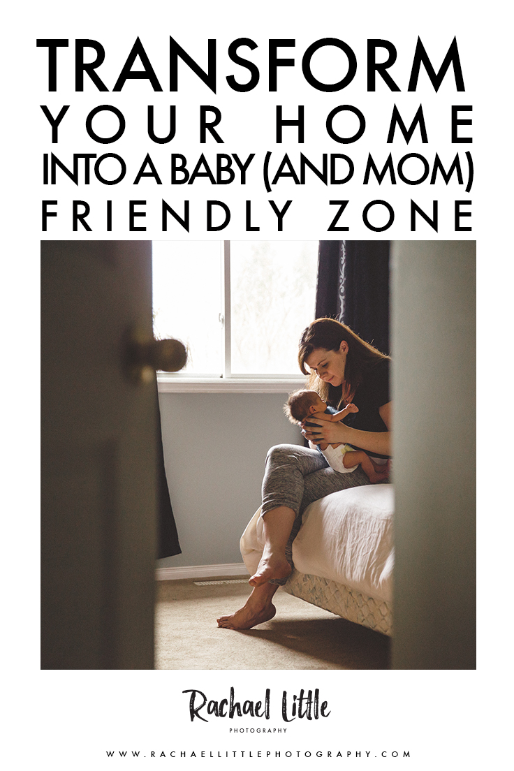 How to transform  your home into a newborn baby friendly zone.  Post-partum tips for new moms.