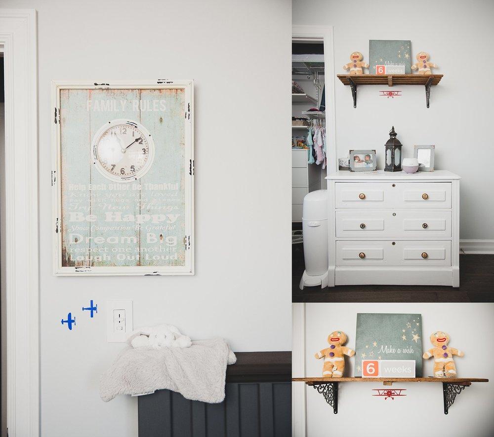 Hand painted vintage dresser. Rustic Sign in nursery - Be Happy Dream Big.