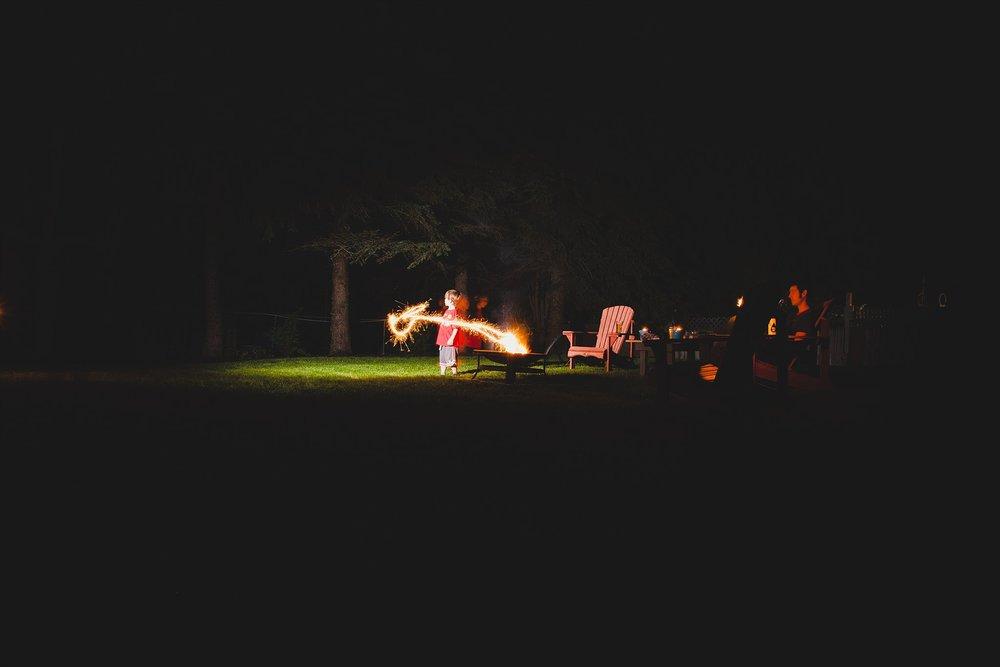Backyard sparklers
