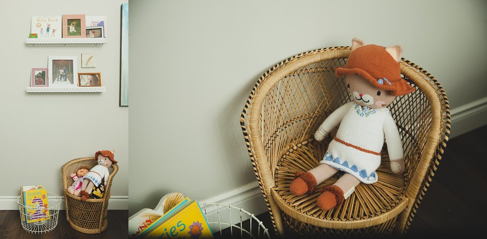 A photograph of a miniature wicker chair for kids.