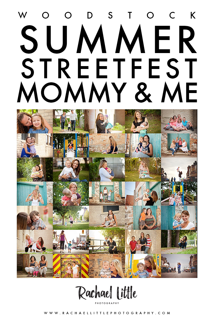 Mommy & Me Photography Sessions at Streetfest in Woodstock in partnership with Baby Bumpz online.
