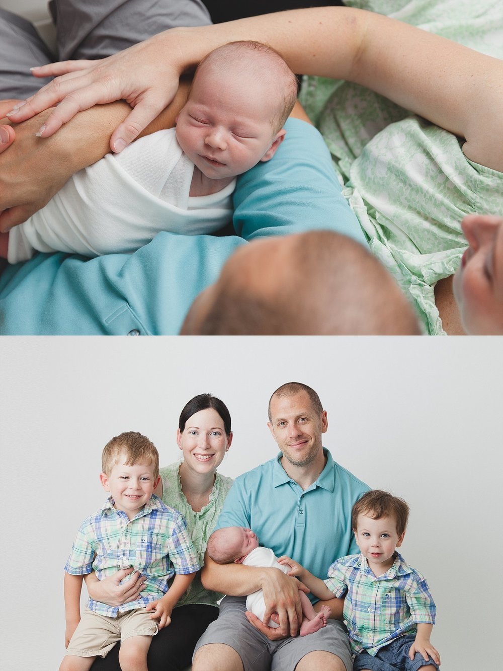 Portrait of family of five with three boys! Photographed in Woodstock, Ontario by Rachael Little Photography.