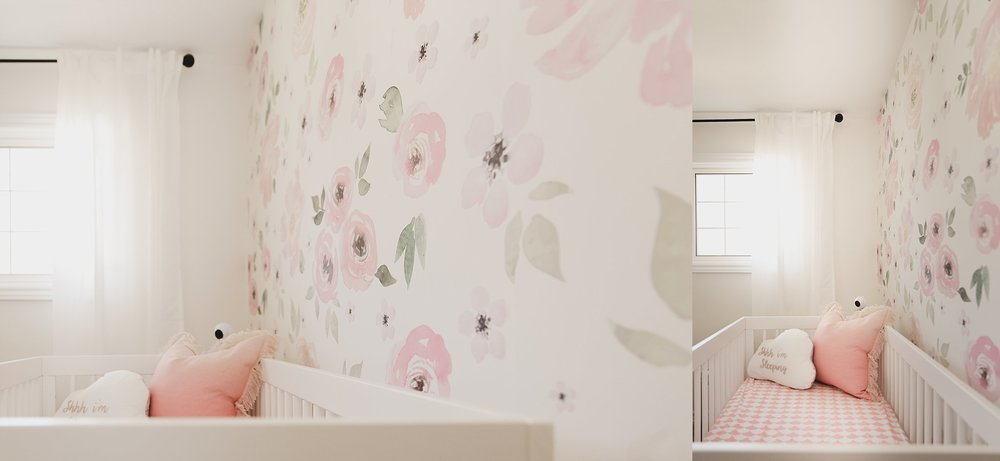 Photograph of baby's nursery taken by Rachael Little Photography in Woodstock ON.