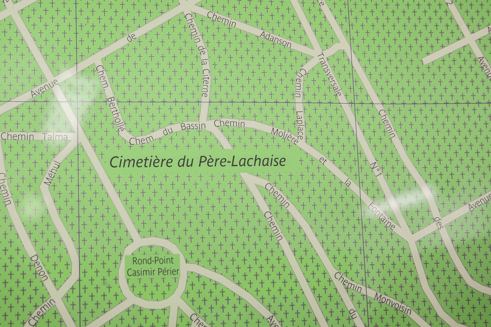 Map of the Pere-Lachaise Cemetery