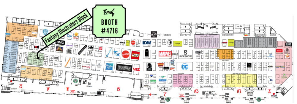 SDCC 2018 Pascual Productions Booth #4716 Map Location