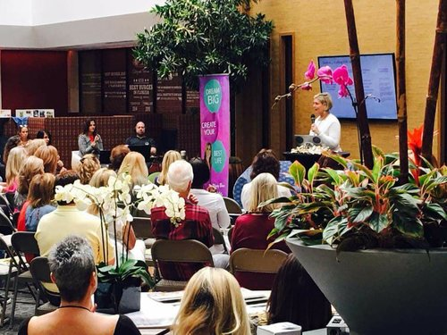 Me speaking at Women's Empowerment Event