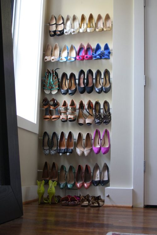 This keeps shoes organized…. - as well as dry and free from additional scuffs. It also makes it quick and easy for you to find the perfect pair!