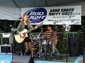 Chelsea Summers and Clay Stuckey jamming for benefit show.jpg