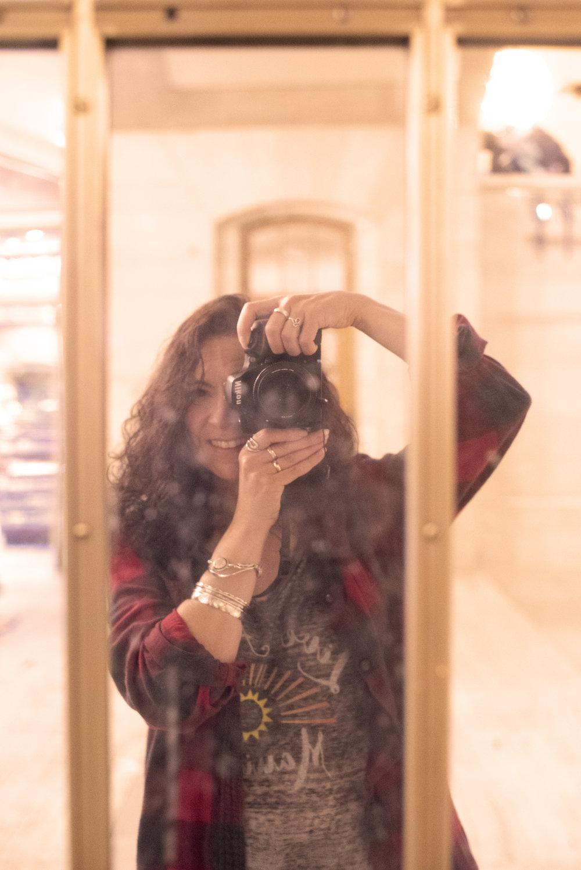 Self-portrait in Grand Central
