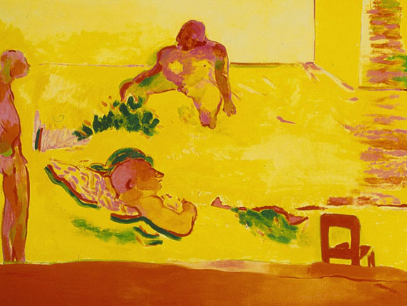 Robert Hodgins, A Yellow Room, oil on canvas