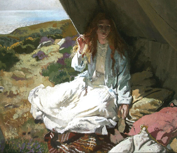 William Orpen, In the Tent, oil on canvas (detail)