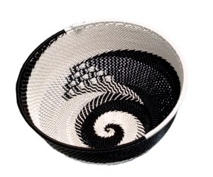 Ben Makhanya Telephone Wire Bowl (Black & white)