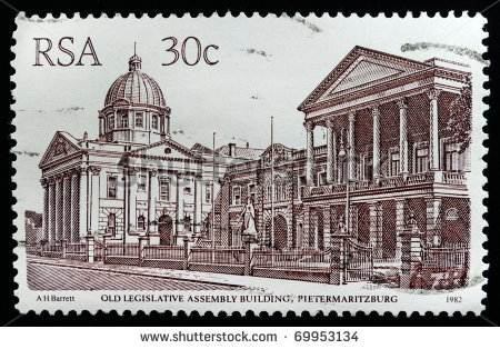 A stamp from 1982 showing the Old Legislative Assembly Building