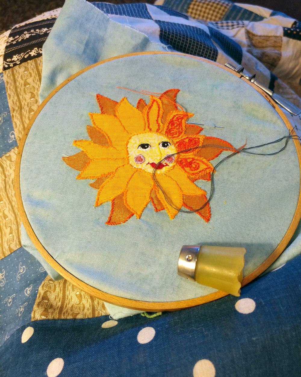 stitching the sun