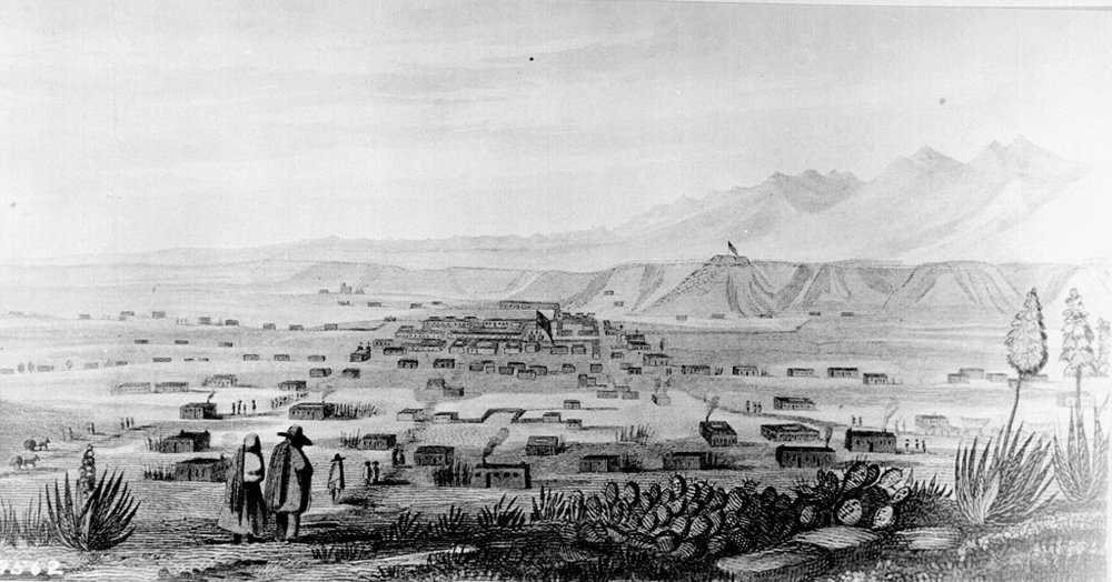 """Engraving from """"Report of Lt. J. W. Abert of his Examination of New Mexico in the Years 1846-1847"""