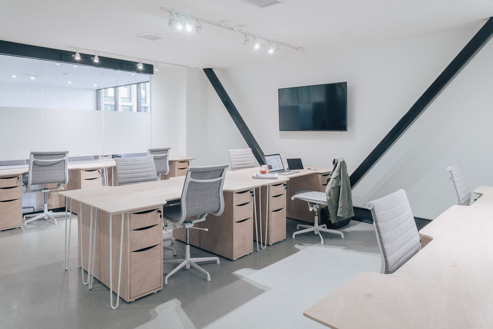 Coworking - Our members can benefit from our creative community, and utilize shared services for optimal business growth. We offer flexible leasing on shared office space, with all the amenities included.