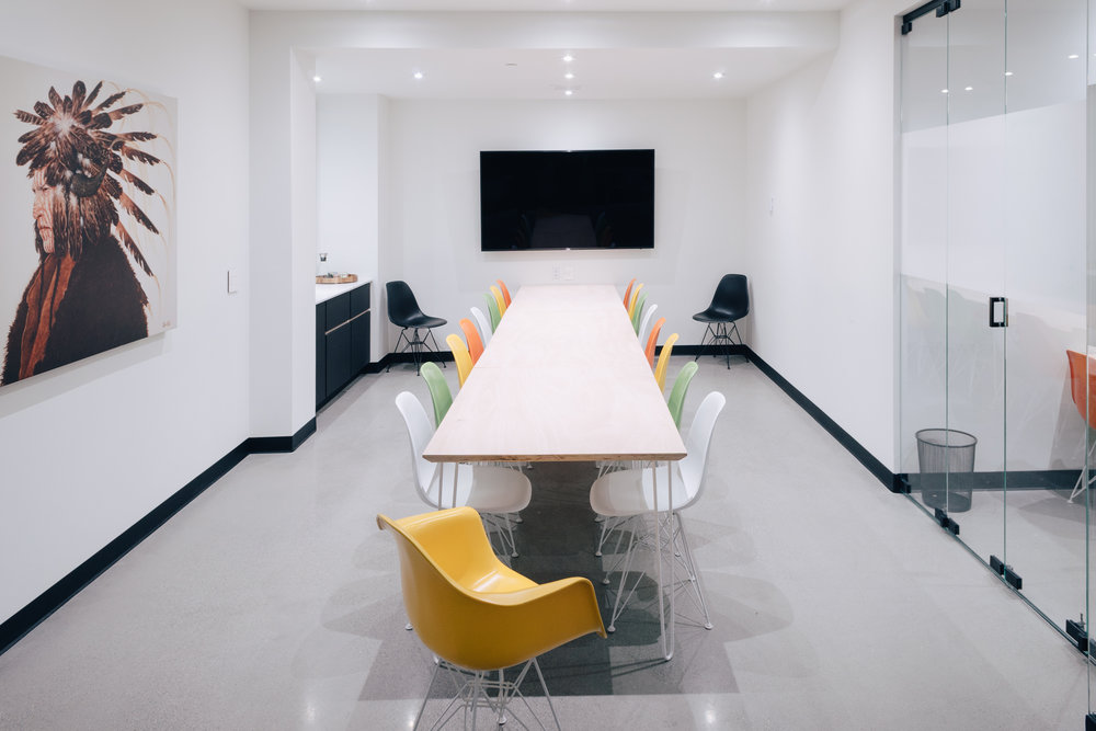Meeting Rooms - 6 fully AV equipped meeting rooms, suited for small groups and larger teams. White boards, Internet, Coffee, and Tea is included. Conveniently located just a block from Denver's best hotels, restaurants, and boutiques.