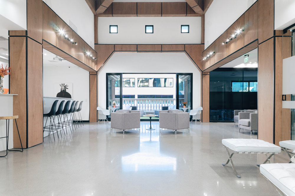 Events - With a total of 3000+ sqf of event and balcony space, we host large and small company events, educational functions, and exclusive networking gatherings. Our open space for rent is the perfect way to impress your client.