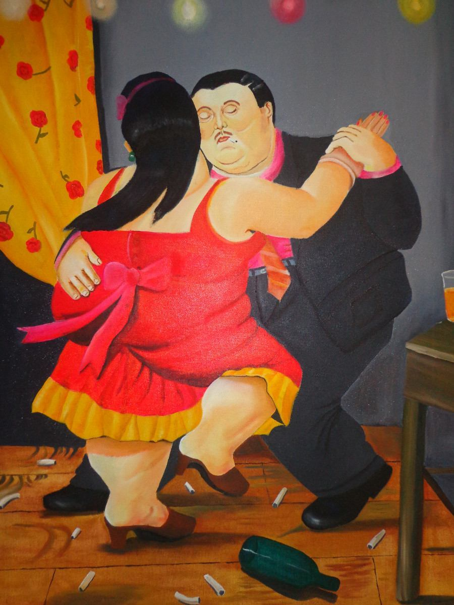 Copy of Botero's painting Medellin