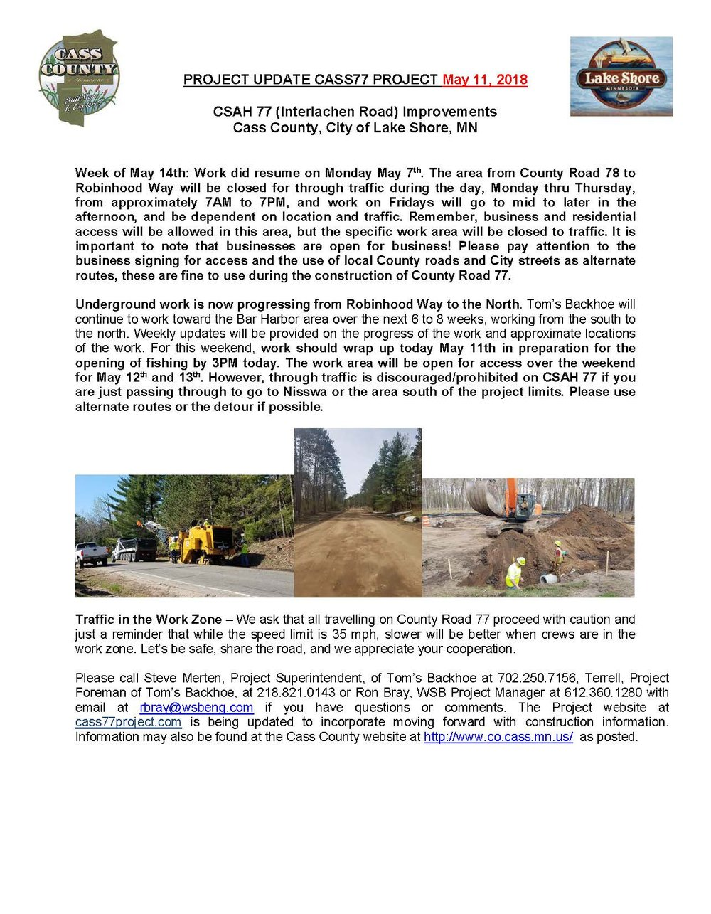 Cass County CSAH 77 Project update May 11th 2018.jpg