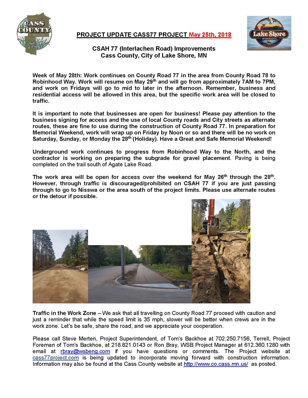Cass County CSAH 77 Project update May 25th 2018.jpg