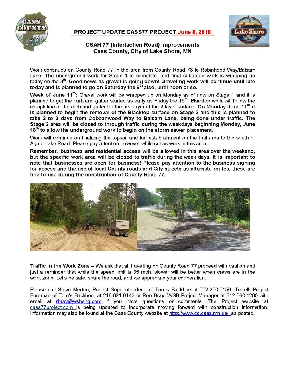 Cass County CSAH 77 Project update June 8 2018.jpg