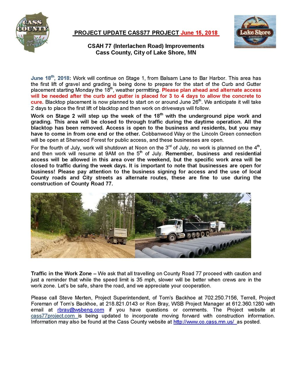 Cass County CSAH 77 Project update June 15 2018.jpg