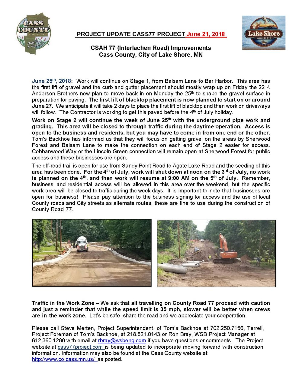 Cass County CSAH 77 Project update June 21 2018.jpg