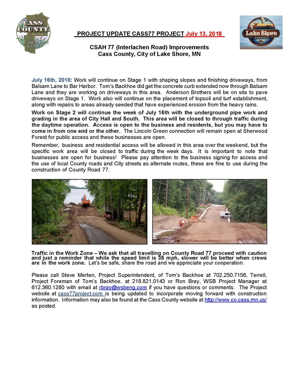 Cass County CSAH 77 Project update July 13 2018.jpg