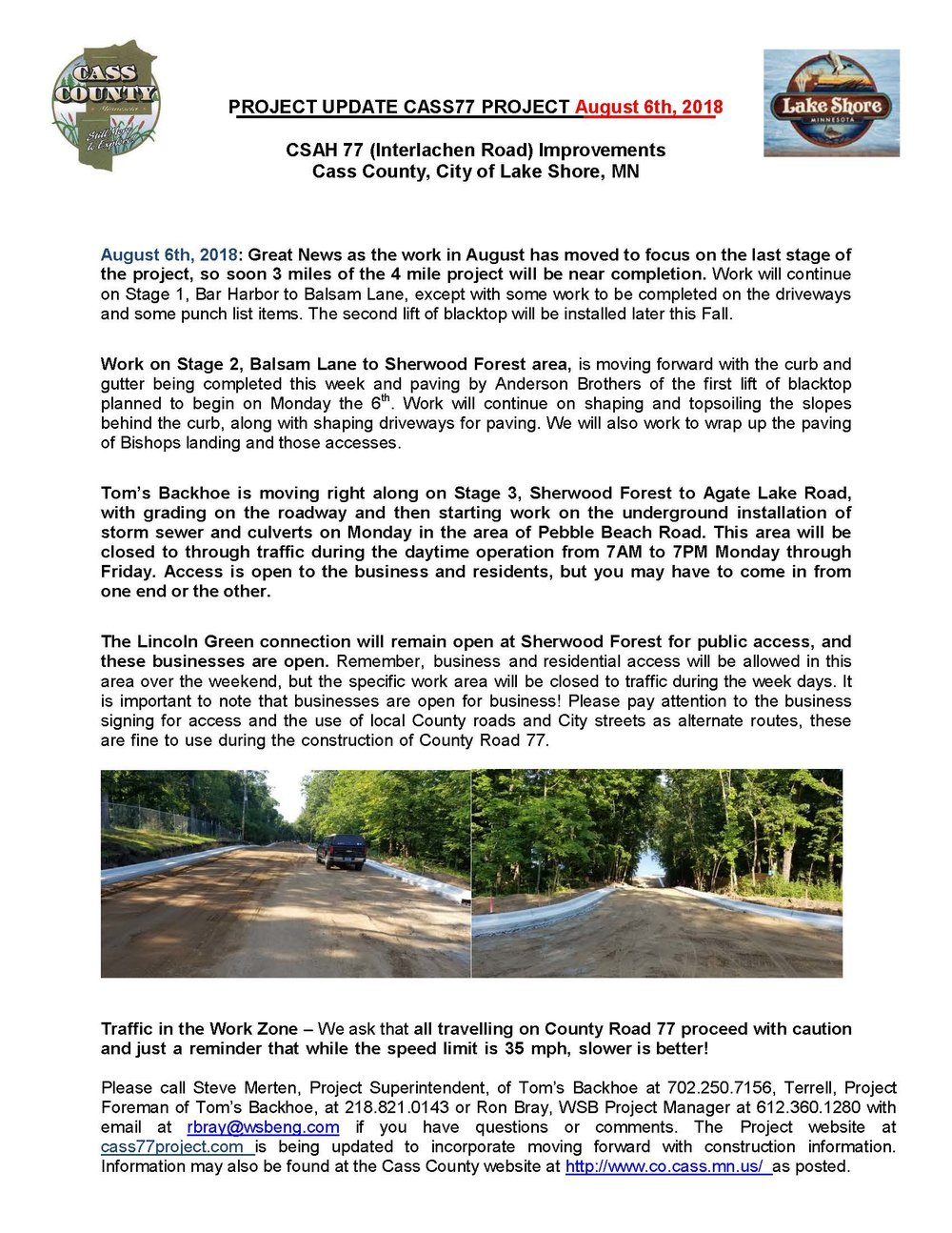 Cass County CSAH 77 Project update August 3 2018.jpg