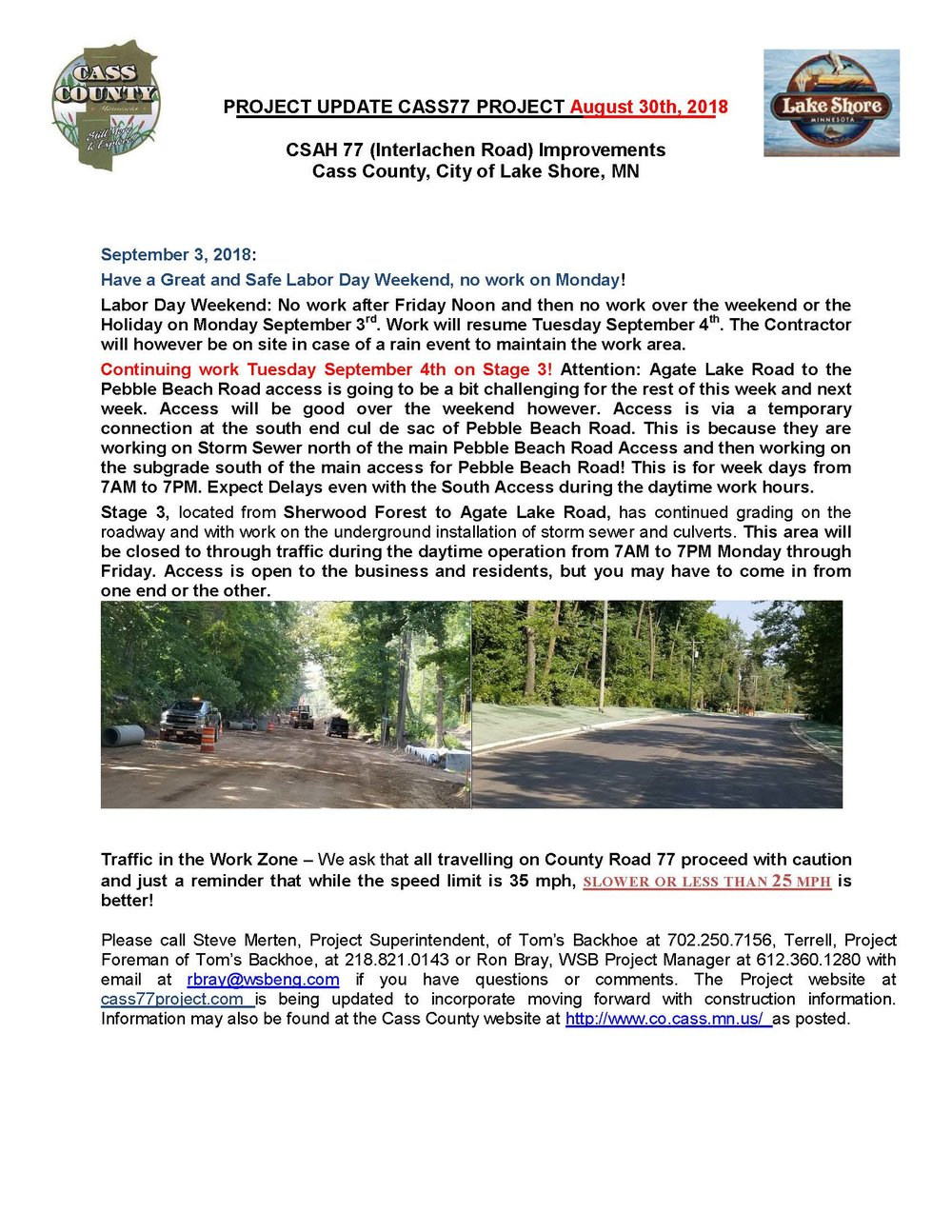 Cass County CSAH 77 Project update August 30th 2018.jpg