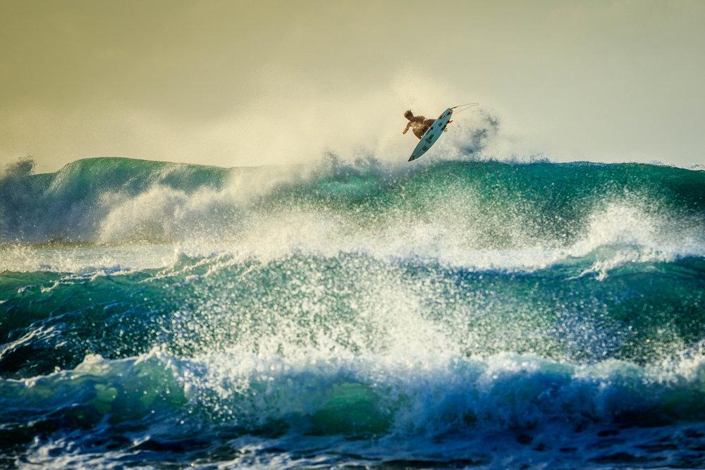 Yago na última temporada havaiana. Foto: Henrique Pinguim