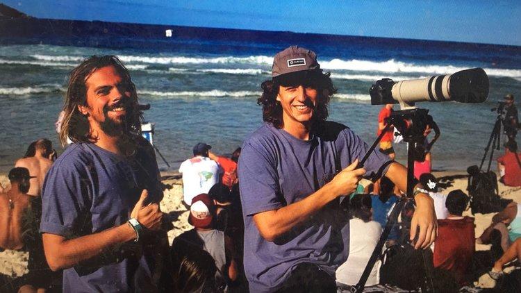 O falecido Lucas Zuch (RIP)e Eduardo Linhares. Foto: Caio Guedes