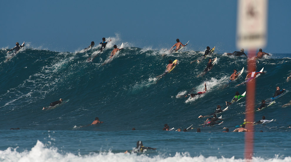 O crowd mais qualificado do planeta. Foto WSL
