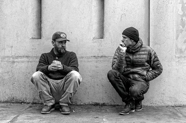 Chris Malloy, à esquerda. Foto Patagonia