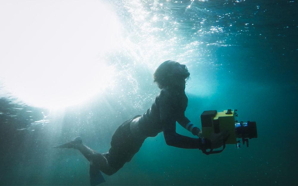 Erick é especializado em filmagens de dentro d'água