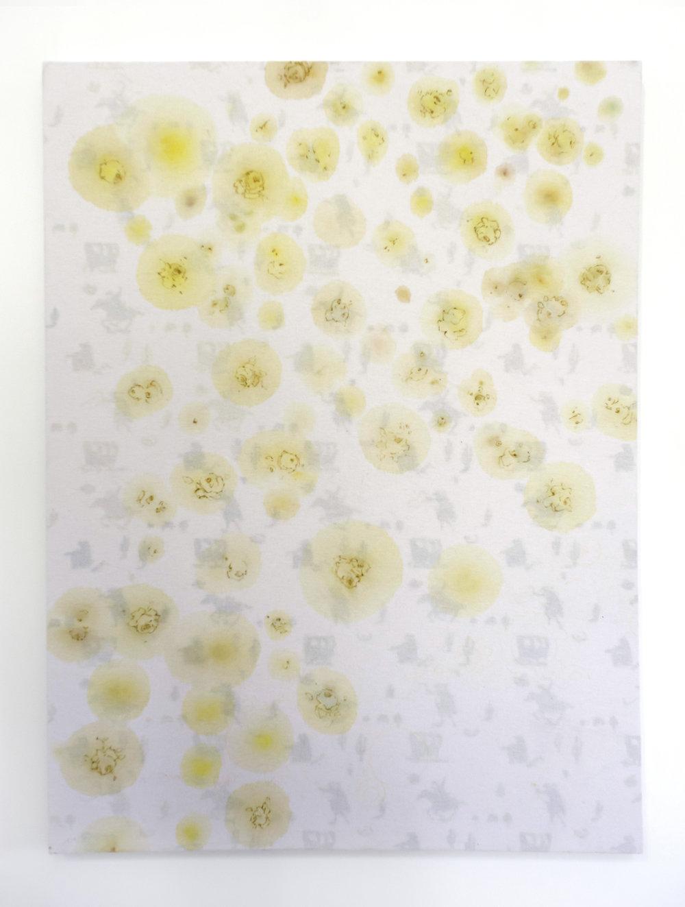 Broken Bed  (2014), acrylic on canvas, 122 x 165 cm
