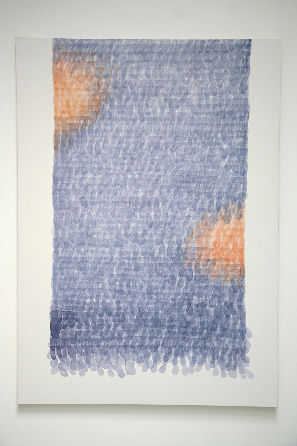 Bad Knitting - blue  (2015), acrylic on canvas, 100 x 140cm