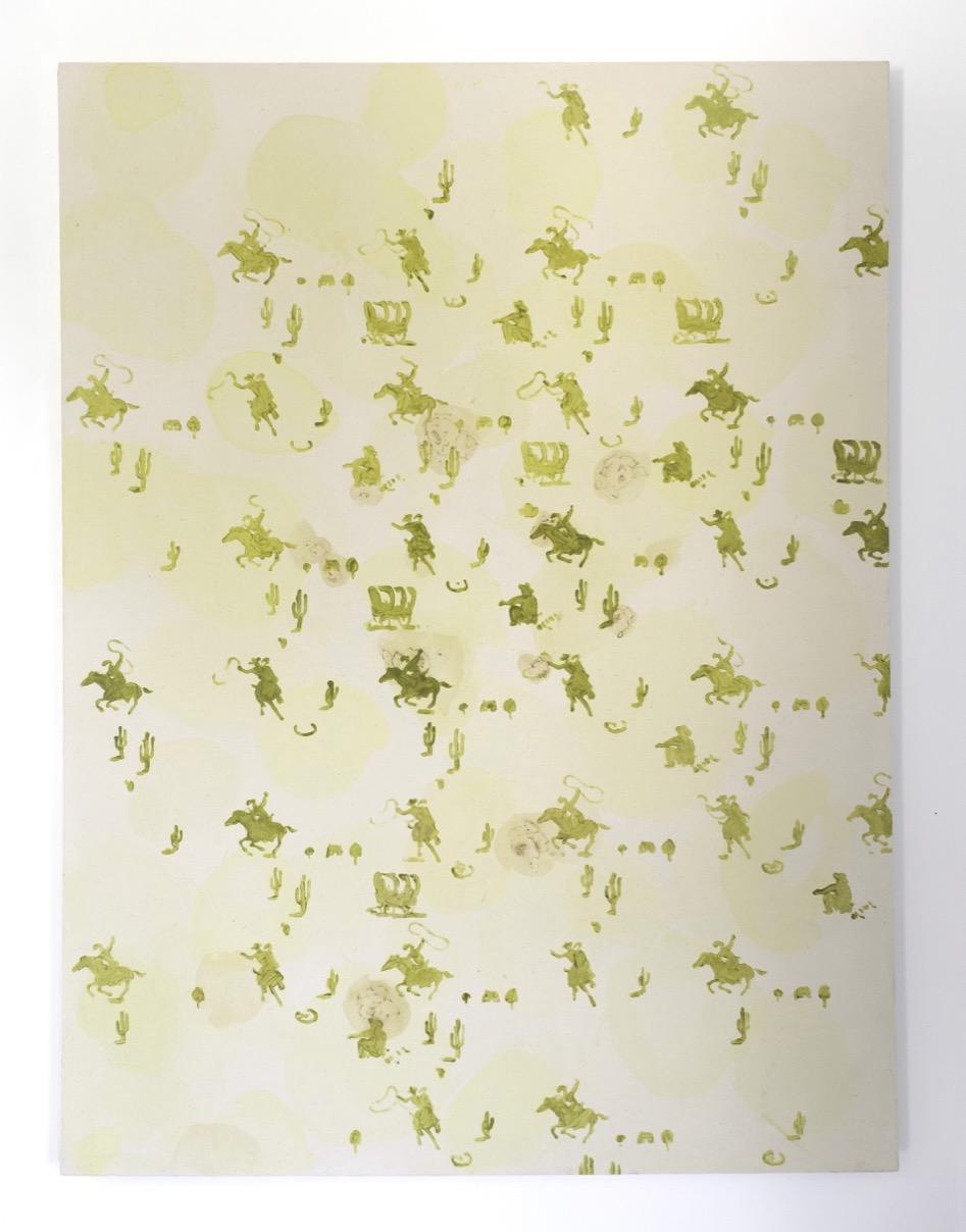 Three stains (2014), Acrylic on Canvas, 122 x 165 cm