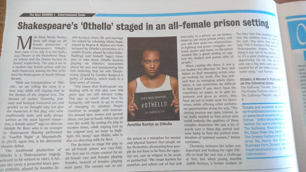 The Next 48hOURS features Othello: A Woman's Story