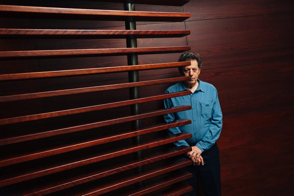 Philip Glass. Compositor estadounidense.