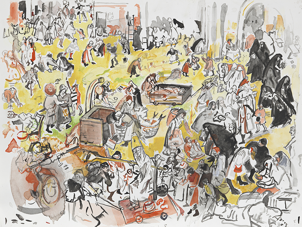 Cecily Brown: The Battle Between Carnival and Lent (after Bruegel)