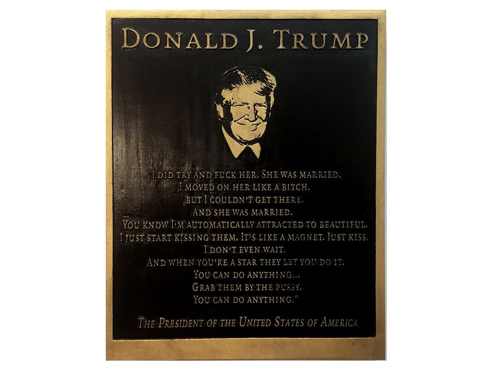 Marilyn Minter: Trump Plaque