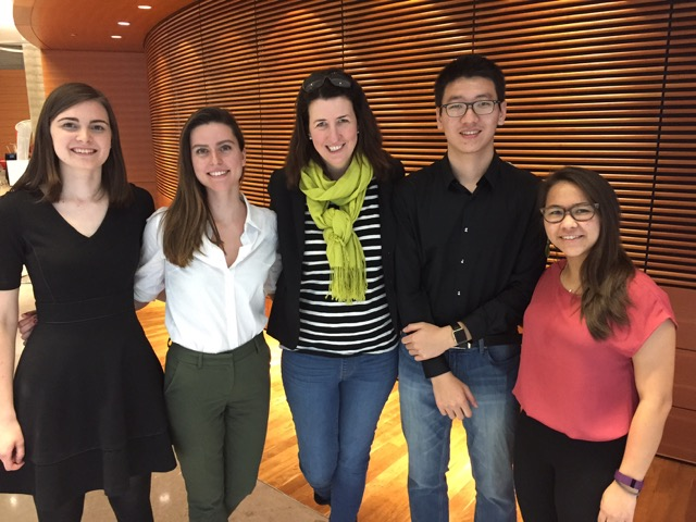 At the 2017 Climate Symposium - I'm in the middle - with undergraduate researchers Elise Penn and Stacy Montgomery (both left) and Peidong Wang and Maria Castillo (right)