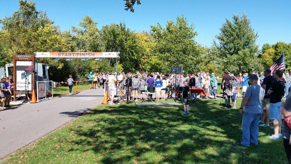 Start line at 2016 Pettigrew Panther Dash race.