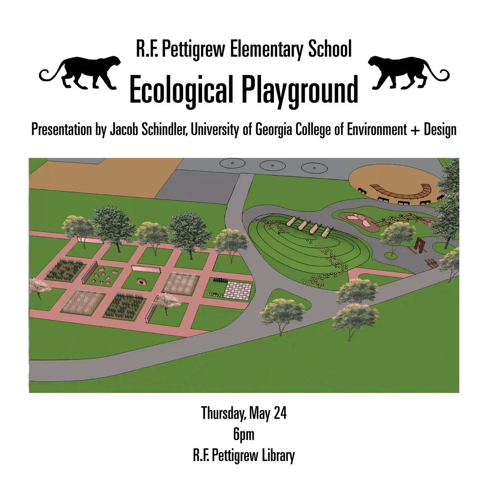 Eco Playground presentation on Thursday May 24, 6 pm in the R.F. Pettigrew Library
