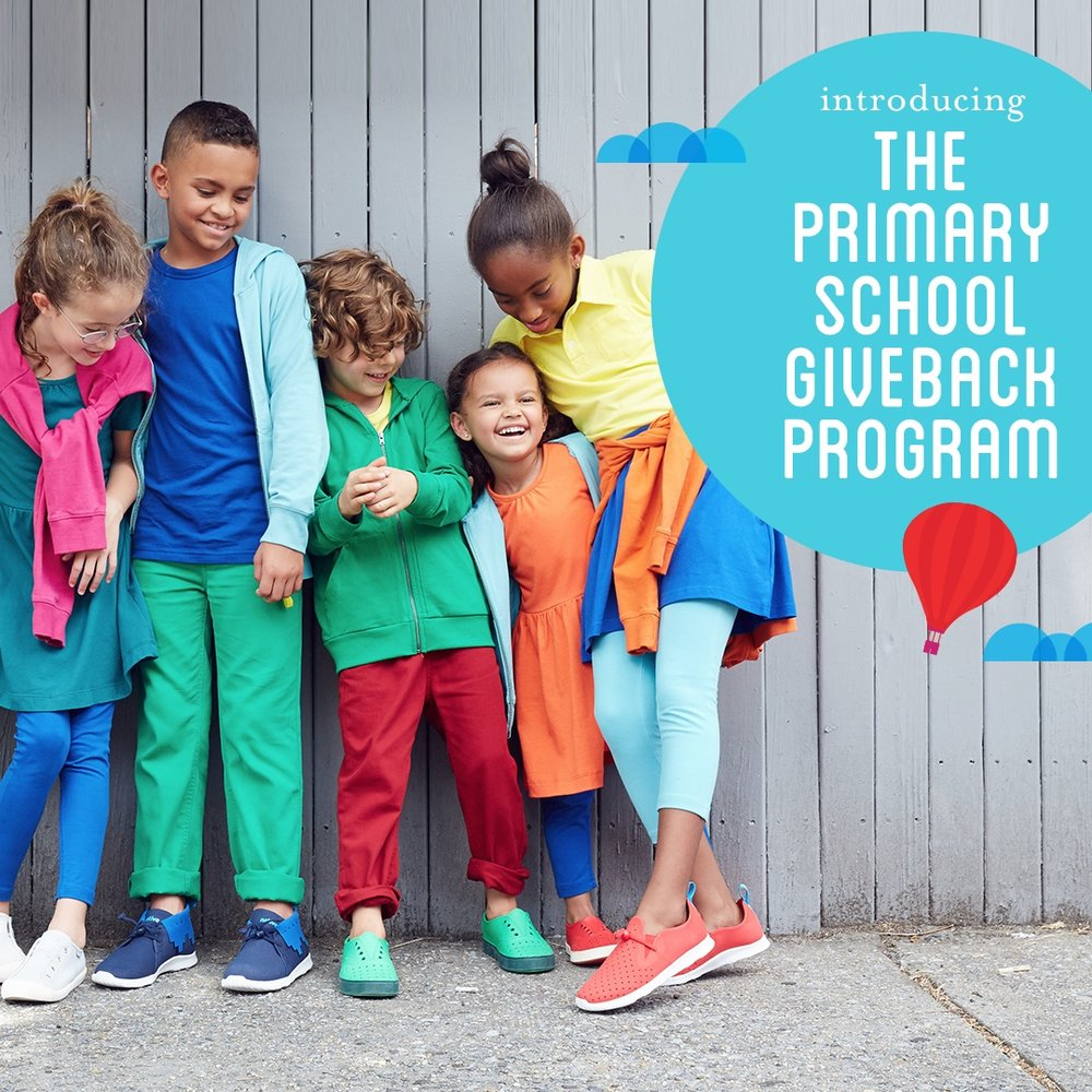 Image of Primary.com's School Giveback Program showing kids wearing solid colored clothing.