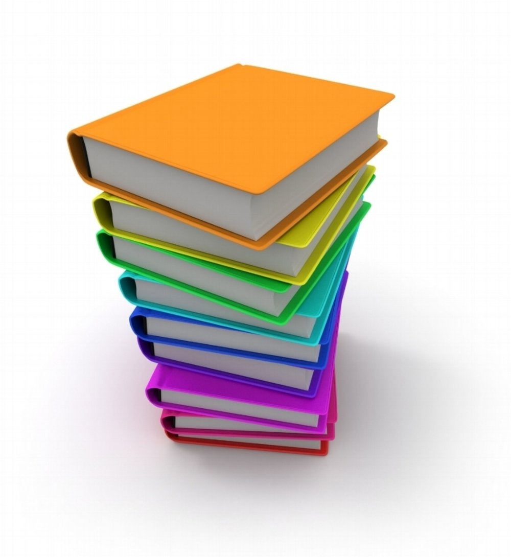 Stack of multicoloured books in rainbow flag colours. Photo by Franck-Boston/iStock / Getty