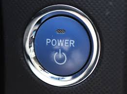 Blue computer power button