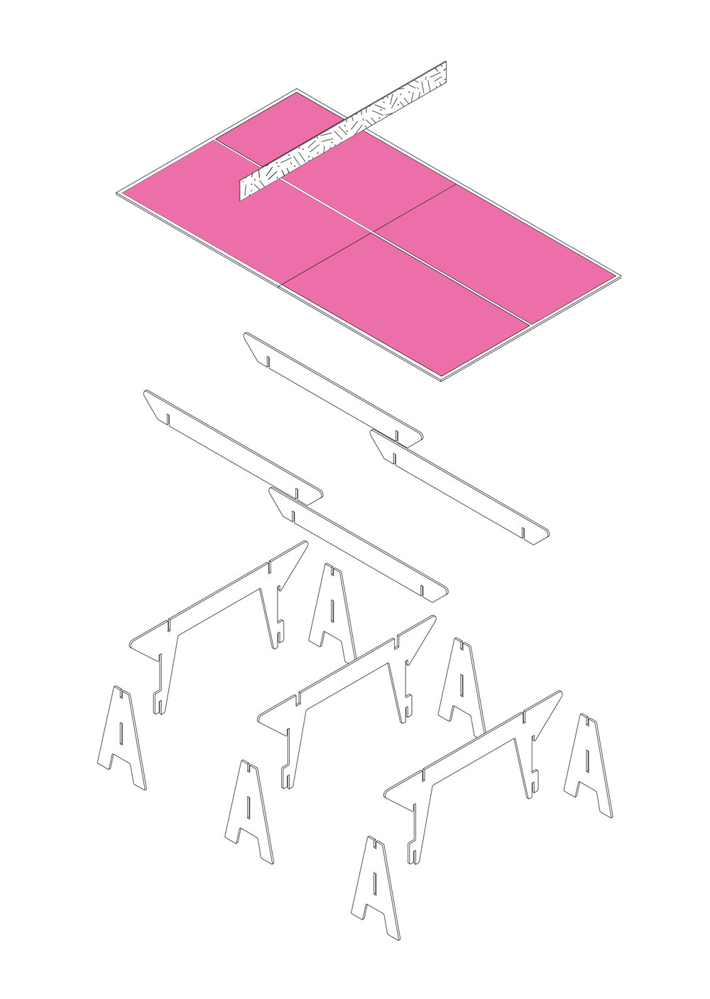 Diagram of the finalized table design
